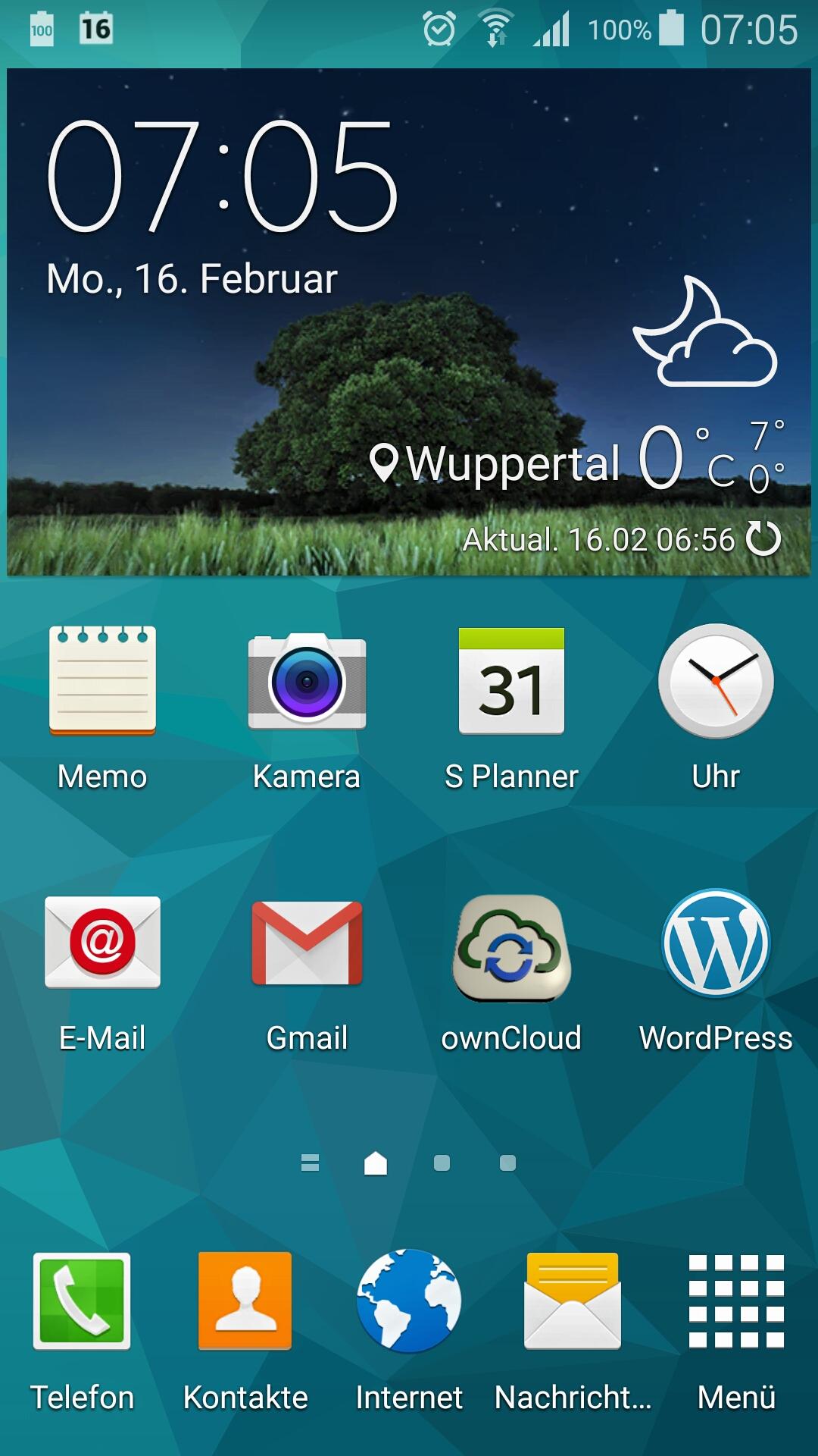 Android Startscreen