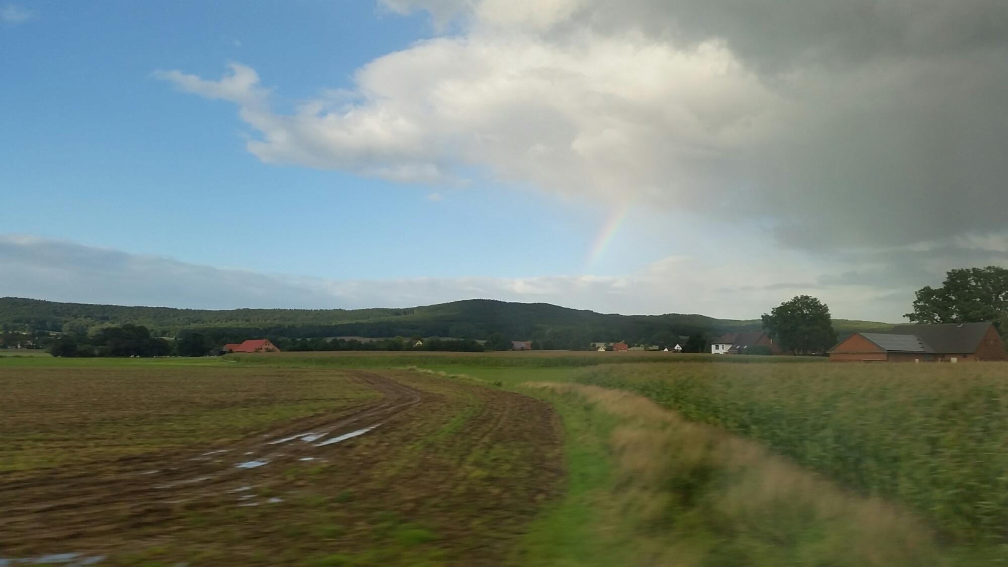 Regenbogen über Teutoburger Wald, Standpunkt Bad Rothenfelde