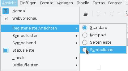 LibreOfficeRib aktivieren