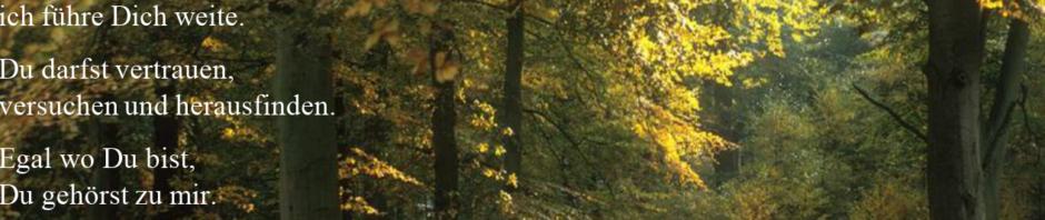 Bild: Wald im Herbst, darauf mit weißér Schrift: Fürchte Dich nicht, auch wenn Du keinen Weg siehst, oder den Weg nicht kennst, Ich habe Dich bei Deinem Namen gerufen ich stehe zu Dir, ich führe Dich weite. Du darfst vertrauen, versuchen und herausfinden. Egal wo Du bist, Du gehörst zu mir. Und nun spricht der HERR, der dich geschaffen hat, Jakob, und dich gemacht hat, Israel: Fürchte dich nicht, denn ich habe dich erlöst; ich habe dich bei deinem Namen gerufen; du bist mein!