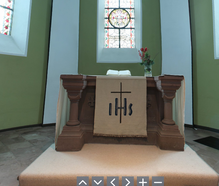 Screenshot interaktiver Kirchraum Odebornskirche Wemlighausen
